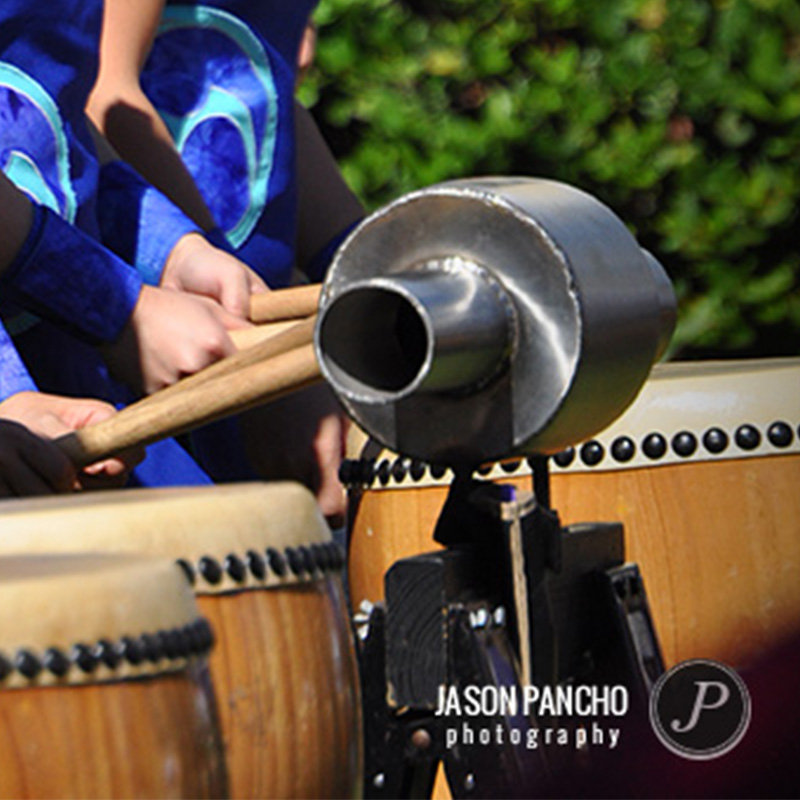 Photography of Taiko drumm performance at Orlando Japanese Festival